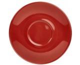 "Genware Saucer Red 16cm-6.3"""