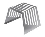 "Genware Stainless Steel Chopping Board Rack for 6x0.5"" boards"