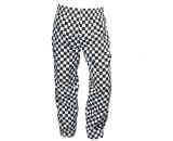 "Genware Chef Baggies Large Check Trousers Black Check XS 26""-28"" Waist"