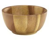 Genware Acacia Wood Bowl 7x15cm Diameter