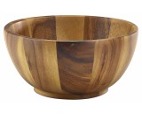 Genware Acacia Wood Bowl 10x20cm Diameter