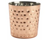 Genware Copper Hammered Serving Cup  8.5x8.5cm