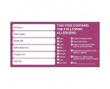 Berties Removable Allergen Labels 50x50mm