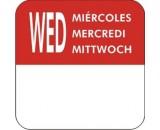 Berties Day Of The Week Label - Wednesday