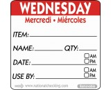 Berties 50mm Wednesday Removable Day Label