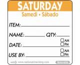 Berties 50mm Saturday Removable Day Label