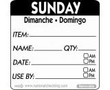 Berties 50mm Sunday Removable Day Label
