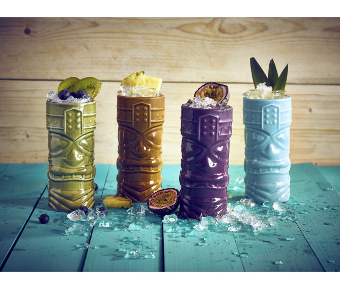Berties Purple Tiki Mug 40cl/14oz