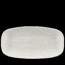 Churchill Studio Prints Breccia Chef's Oblong Plate No.3 Breccia Agate Grey 29.8x15.3cm