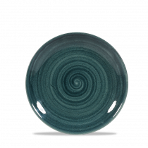 Churchill Stonecast Patina Small Coupe Plate Rustic Teal 16.5cm-6.5""