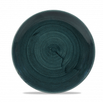 Churchill Stonecast Patina Medium Coupe Plate Rustic Teal 21.7cm-8.5""