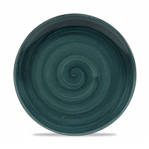 Churchill Stonecast Patina Intermediate Coupe Plate Rustic Teal 26cm-10.25""