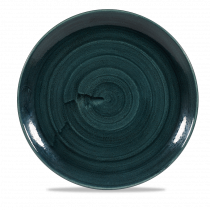 Churchill Stonecast Patina Large Coupe Plate Rustic Teal 28.80cm-11.25""