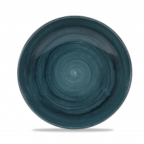 Churchill Stonecast Patina Large Coupe Pasta Bowl Rustic Teal 113.6cl-40oz 24.8x3.6cm