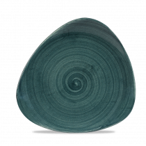 Churchill Stonecast Patina Trianlge Plate Rustic Teal 22.90cm-9""