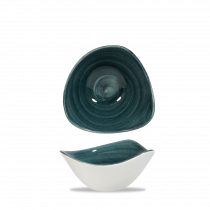 Churchill Stonecast Patina Trianlge Bowl Rustic Teal 26cl-9.2oz 15.3cm