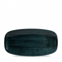 Churchill Stonecast Patina Chef's Oblong Platter Rustic Teal 29.8x15.3cm