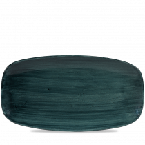 Churchill Stonecast Patina Chef's Oblong Platter Rustic Teal 35.5x18.9cm