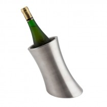 Genware Stainless Steel Angled Wine Cooler 10.5 Diameter
