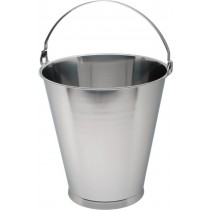 Genware Stainless Steel Bucket Skirted Base Graduated 15L