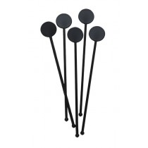 Berties Cocktail Disc Stirrer Black 7""