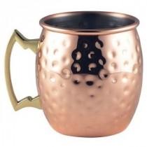 Berties Copper Barrel Mug Hammered 40cl/14oz