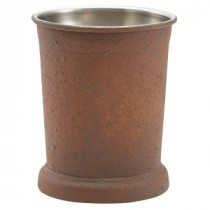 Genware Stainless Steel Julep Cup Rust Effect 38.5cl-13.5oz