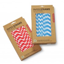 "Berties Paper Straw 8"" Blue & White Stripe"