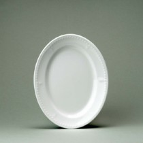 Churchill Buckingham White Oval Plate 25.4cm/10""