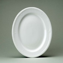 Churchill Buckingham White Oval Plate 30.5cm12""