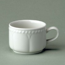 Churchill Buckingham White Stacking Tea Cup 21cl/7.5oz