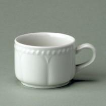 Churchill Buckingham White Stacking Tea Cup 21cl/7.5oz