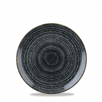 Churchill Studio Prints Homespun Coupe Plate Charcoal Black 16.5cm-6.5""