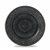 Churchill Studio Prints Homespun Rimmed Plate Charcoal Black 21cm-8.25""