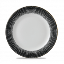 Churchill Studio Prints Homespun Rimmed Plate Charcoal Black 26.1cm-10.25""