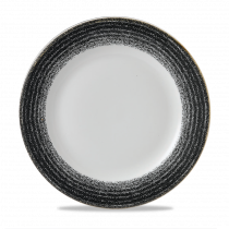 Churchill Studio Prints Homespun Rimmed Plate Charcoal Black 27.6cm-10.9""