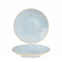 Churchill Stonecast Deep Coupe Plate Duck Egg Blue 22.5cm-8.9""