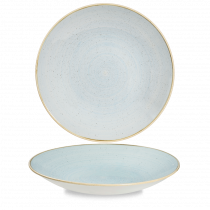 Churchill Stonecast Deep Coupe Plate Duck Egg Blue 28.1cm-11.1""