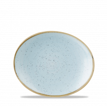 Churchill Stonecast Oval Coupe Plate Duck Egg Blue 19.2x16cm-7.6x6.3""