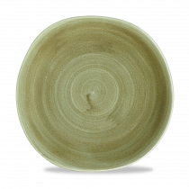 Churchill Stonecast Patina Organic Round Plate Burnished Green 26.4cm-10.4""