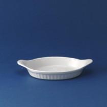 "Churchill White Oval Eared Dish 8"""