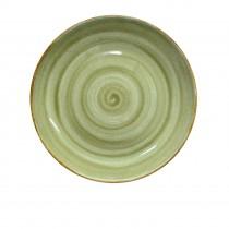 "Sango Java Coupe Plate Meadow Green 33cm-13"""