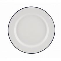 "Berties Enamel Wide Rim Plate Blue Rim 20cm-8"""