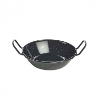 Berties Black Enamel Dish 78cl/27.5oz