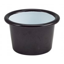 Berties Enamel Ramekin Black 7cm Diameter 9cl-3.2oz