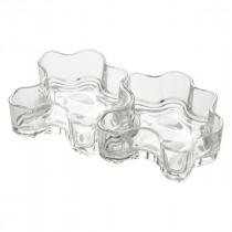 Berties Glass Puzzle Bowl 25.2x11.2x4.2cm (2x16cl/5.5oz)