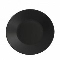 "Genware Luna Black Wide Rim Plate 25cm/9.8"""