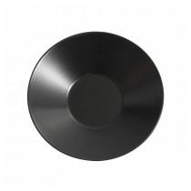 Genware Luna Black Soup Plate 23x5cm