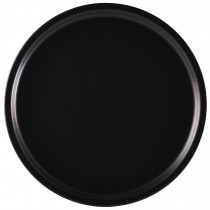 "{Genware Luna Black Pizza Plate 33cm/13\"" Diameter}"