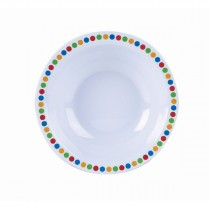 "Genware Melamine Bowl Coloured Circles 15cm/6"""
